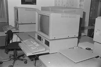 Old 1980s style computers